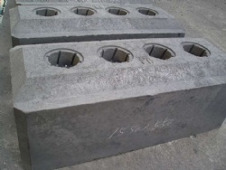 1850*715*660mm Pre-Baked Anodes for Electrolytic Aluminum Production